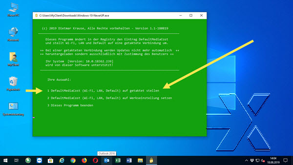 Windows 10 NeverUp
