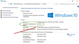 Windows 10 RAM Sperre entfernen