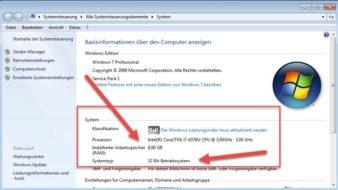 Windows 7 32 Bit RAM Sperre entfernen